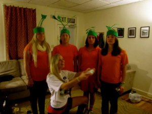 I made my friends be carrots with me. I mostly like that I wore a t-shirt out and had a sweet
