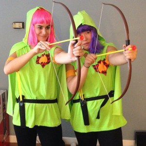 2014Archers from Clash of Clans. This entire outfit was made by Sarah Wickizer. We had dreamt of this costume for a year and she seriously executed.